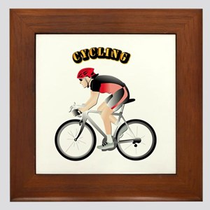Cycling with Text Framed Tile