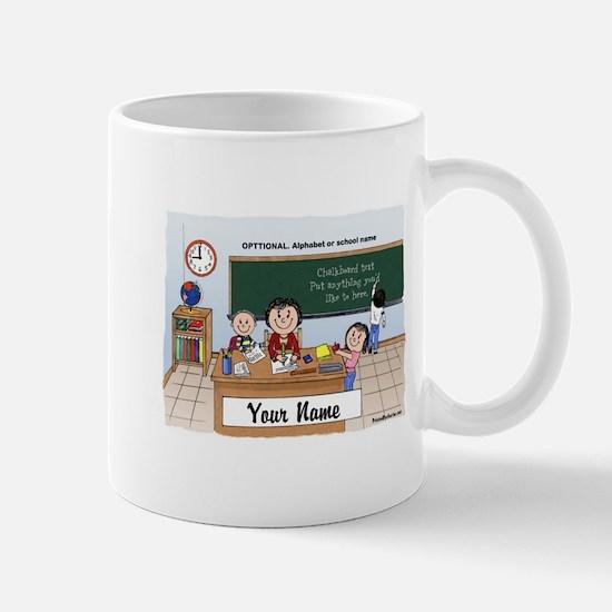 Teacher Middle-Grade School, Female Mugs