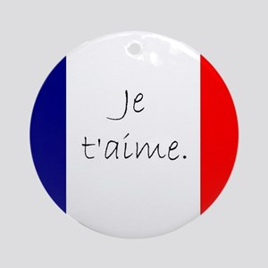 Je t'aime (I love you) - Charlie Ornament (Round)