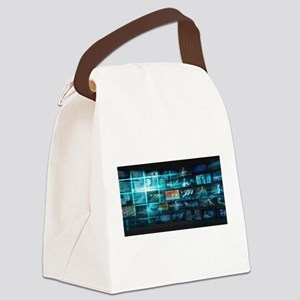 Information Techno Canvas Lunch Bag