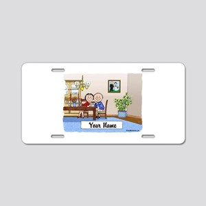 Anniversary, Couple Aluminum License Plate