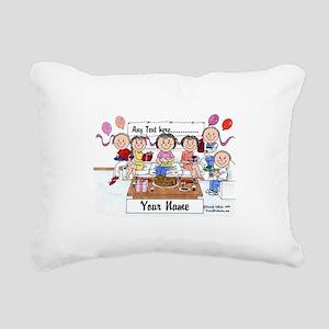 Party, Female Rectangular Canvas Pillow