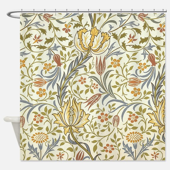 William Morris Floral Shower Curtain