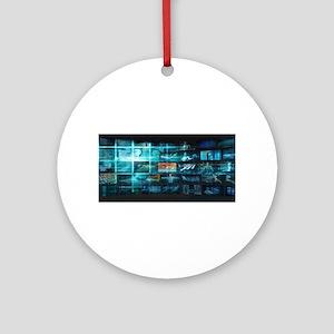Information Techno Round Ornament