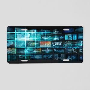 Information Techno Aluminum License Plate