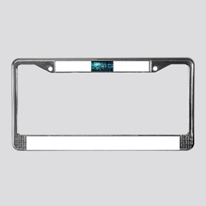 Information Techno License Plate Frame