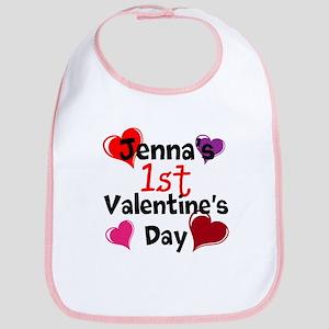 First Valentine Bib