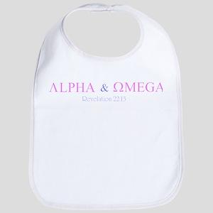 Pink Alpha Omega Bib