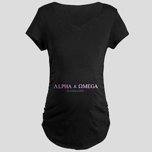 Pink Alpha Omega Maternity Dark T-Shirt