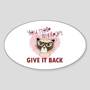 You Stole My Heart - Give it back Sticker (Oval)