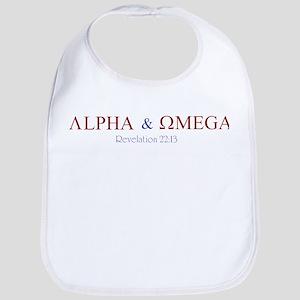 Red Alpha Omega Bib