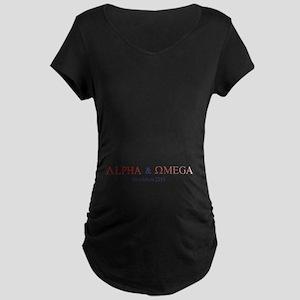Red Alpha Omega Maternity Dark T-Shirt