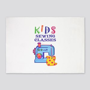 KIDS SEWING CLASSES 5'x7'Area Rug