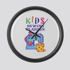 KIDS SEWING CLASSES Large Wall Clock