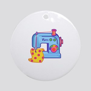 CHILDRENS SEWING MACHINE Ornament (Round)