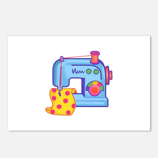 CHILDRENS SEWING MACHINE Postcards (Package of 8)
