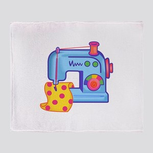 CHILDRENS SEWING MACHINE Throw Blanket