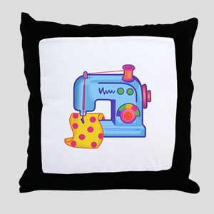 CHILDRENS SEWING MACHINE Throw Pillow