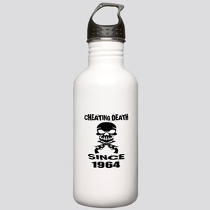 Cheating Death Since 1 Stainless Water Bottle 1.0L