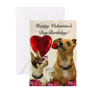 Valentine Chihuahua Greeting Cards Cafepress