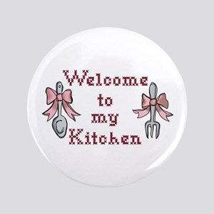 "Welcome To My Kitchen 3.5"" Button"