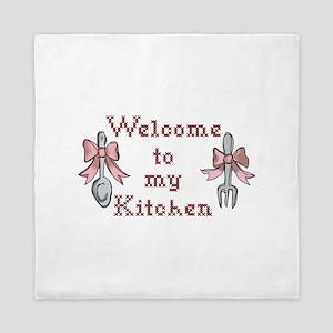Welcome To My Kitchen Queen Duvet