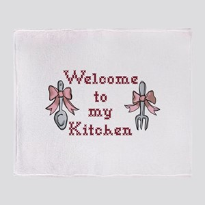 Welcome To My Kitchen Throw Blanket