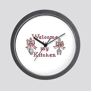 Welcome To My Kitchen Wall Clock