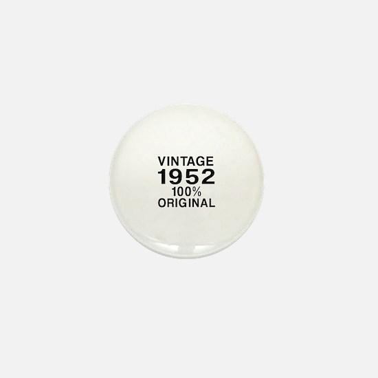 Vintage 1952 Birthday Designs Mini Button