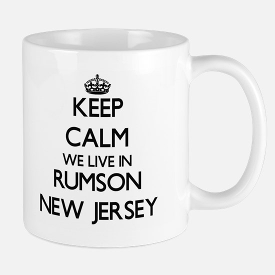 Keep calm we live in Rumson New Jersey Mugs