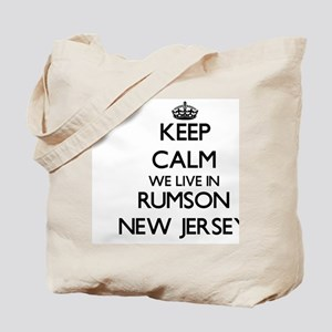 Keep calm we live in Rumson New Jersey Tote Bag