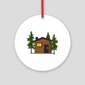 LITTLE CABIN Ornament (Round)