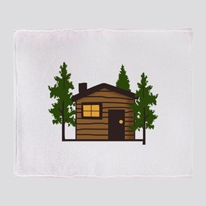 LITTLE CABIN Throw Blanket