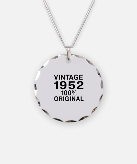Vintage 1952 Birthday Design Necklace
