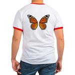 Butterfly Ringer T-shirt Butterfly Wings T-shirt