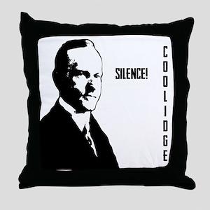 Silent Cal Throw Pillow