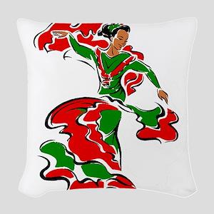 Mexican Dancer Woven Throw Pillow