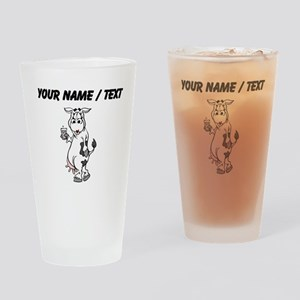 Custom Cow Drinking Milk Drinking Glass