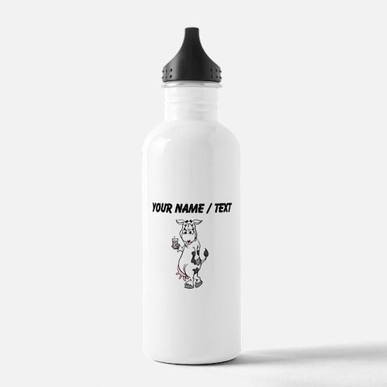 Custom Cow Drinking Milk Water Bottle