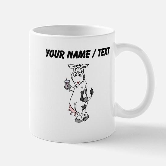 Custom Cow Drinking Milk Mugs