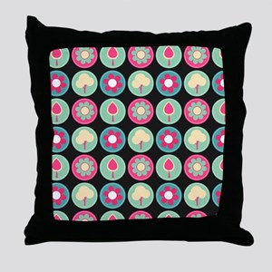 Beautiful Trendy Girly Floral Pattern Throw Pillow