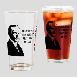 Calvin Coolidge Drinking Glass