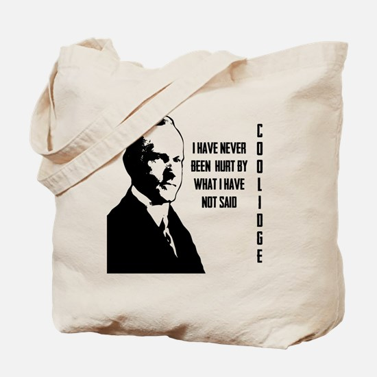 Calvin Coolidge Tote Bag