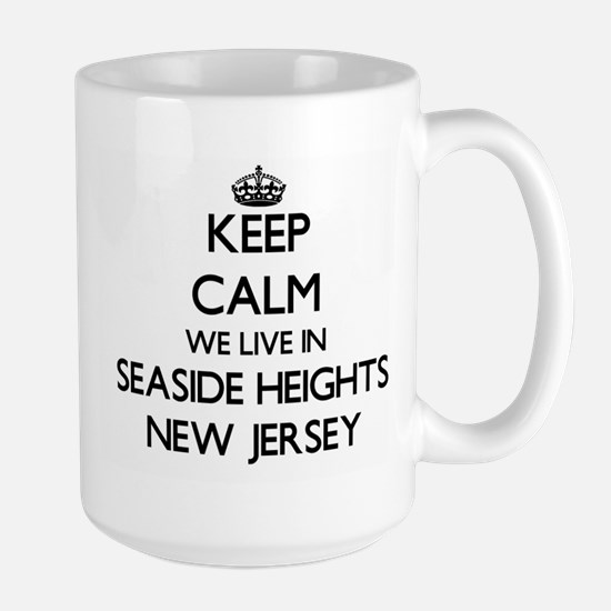 Keep calm we live in Seaside Heights New Jers Mugs