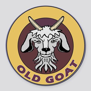 old goat  Round Car Magnet