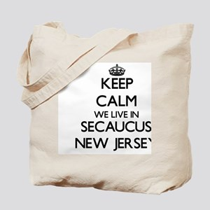 Keep calm we live in Secaucus New Jersey Tote Bag
