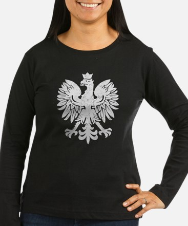 Polish Flag Eagle Long Sleeve T-Shirt