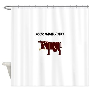 Brown Cow Shower Curtains