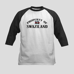 Property Of Swaziland Kids Baseball Jersey