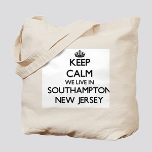 Keep calm we live in Southampton New Jers Tote Bag